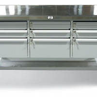 shop-table-with-key-lock-drawers-and-stainless-steel-top