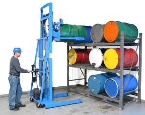 Photo of drum handling equipment