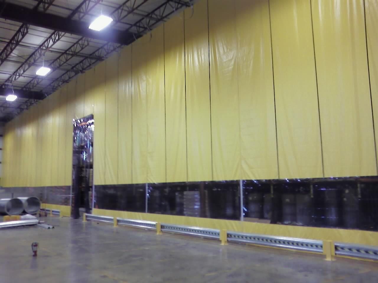 Curtain Walls Industrial Partitioning Carolina Material Handling