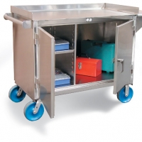 stainless-steel-mobile-cart-with-8-inch-casters