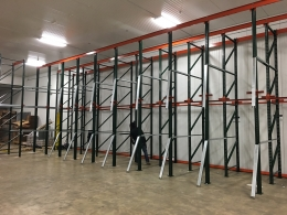 We installed a Drive-In pallet rack system in Clemmons, NC.