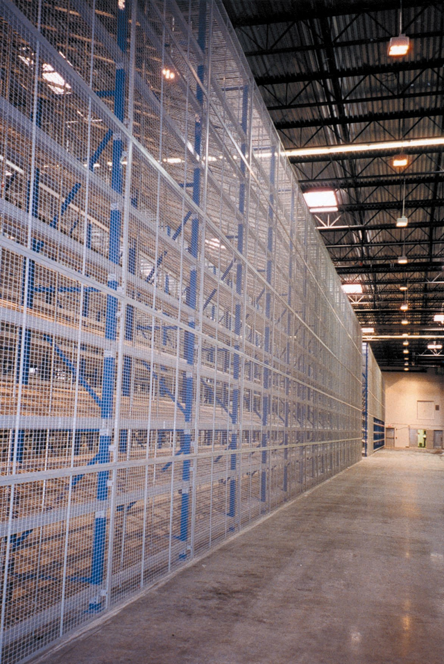Wire Partitioning Wire Storage Cages Guard Rails