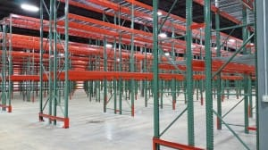 Tear drop pallet rack photo from CMH